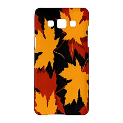 Dried Leaves Yellow Orange Piss Samsung Galaxy A5 Hardshell Case  by Alisyart