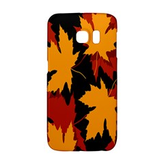 Dried Leaves Yellow Orange Piss Galaxy S6 Edge by Alisyart