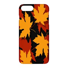 Dried Leaves Yellow Orange Piss Apple Iphone 7 Plus Hardshell Case by Alisyart
