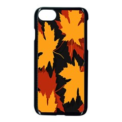 Dried Leaves Yellow Orange Piss Apple Iphone 7 Seamless Case (black) by Alisyart