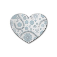Eguipment Grey Rubber Coaster (heart)