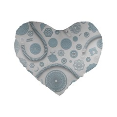 Eguipment Grey Standard 16  Premium Heart Shape Cushions by Alisyart