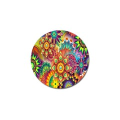 Colorful Abstract Flower Floral Sunflower Rose Star Rainbow Golf Ball Marker (10 Pack) by Alisyart