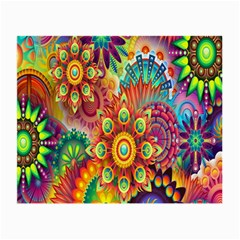 Colorful Abstract Flower Floral Sunflower Rose Star Rainbow Small Glasses Cloth (2 Side)