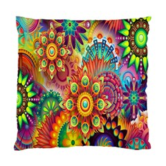 Colorful Abstract Flower Floral Sunflower Rose Star Rainbow Standard Cushion Case (one Side)
