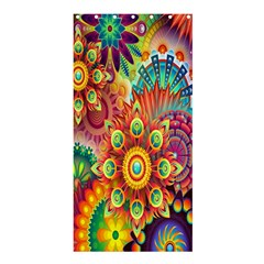 Colorful Abstract Flower Floral Sunflower Rose Star Rainbow Shower Curtain 36  X 72  (stall)  by Alisyart