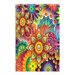 Colorful Abstract Flower Floral Sunflower Rose Star Rainbow Shower Curtain 48  X 72  (small)