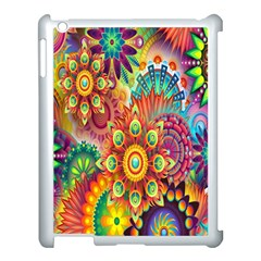 Colorful Abstract Flower Floral Sunflower Rose Star Rainbow Apple Ipad 3/4 Case (white)