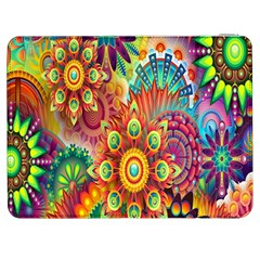 Colorful Abstract Flower Floral Sunflower Rose Star Rainbow Samsung Galaxy Tab 7  P1000 Flip Case