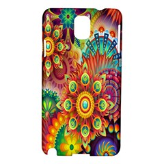 Colorful Abstract Flower Floral Sunflower Rose Star Rainbow Samsung Galaxy Note 3 N9005 Hardshell Case