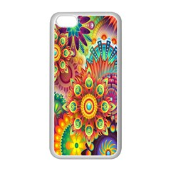 Colorful Abstract Flower Floral Sunflower Rose Star Rainbow Apple Iphone 5c Seamless Case (white) by Alisyart