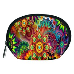 Colorful Abstract Flower Floral Sunflower Rose Star Rainbow Accessory Pouches (medium)