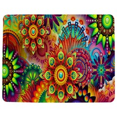 Colorful Abstract Flower Floral Sunflower Rose Star Rainbow Jigsaw Puzzle Photo Stand (rectangular) by Alisyart