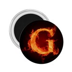 Fire Letterz G 2.25  Magnets Front