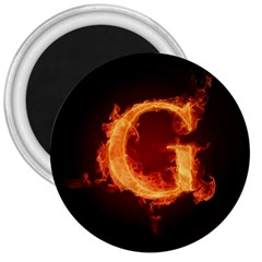 Fire Letterz G 3  Magnets