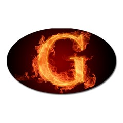 Fire Letterz G Oval Magnet