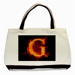Fire Letterz G Basic Tote Bag by Alisyart