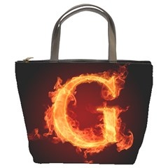 Fire Letterz G Bucket Bags by Alisyart