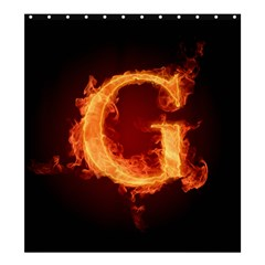 Fire Letterz G Shower Curtain 66  X 72  (large)