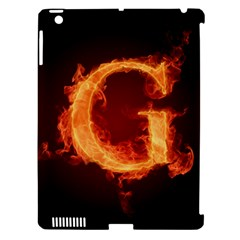Fire Letterz G Apple Ipad 3/4 Hardshell Case (compatible With Smart Cover)