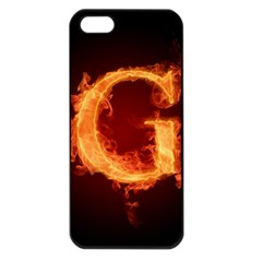 Fire Letterz G Apple Iphone 5 Seamless Case (black)