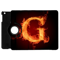Fire Letterz G Apple Ipad Mini Flip 360 Case
