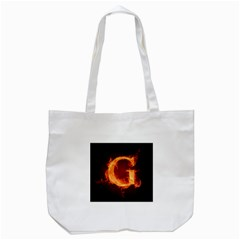 Fire Letterz G Tote Bag (white)