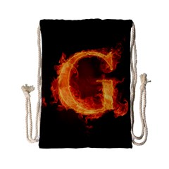 Fire Letterz G Drawstring Bag (small) by Alisyart