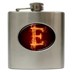 Fire Letterz E Hip Flask (6 Oz)