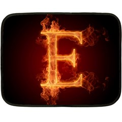Fire Letterz E Fleece Blanket (mini)