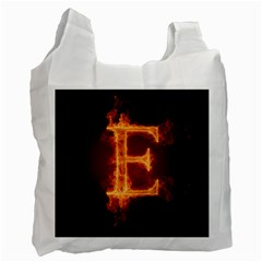 Fire Letterz E Recycle Bag (one Side)