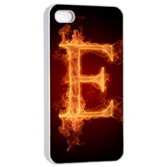 Fire Letterz E Apple Iphone 4/4s Seamless Case (white)