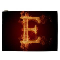 Fire Letterz E Cosmetic Bag (xxl)