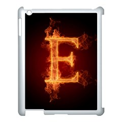 Fire Letterz E Apple Ipad 3/4 Case (white)