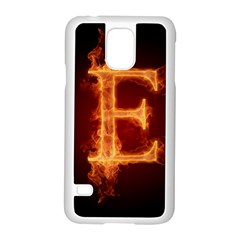 Fire Letterz E Samsung Galaxy S5 Case (white)