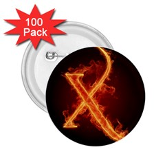 Fire Letterz X 2 25  Buttons (100 Pack)