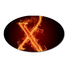 Fire Letterz X Oval Magnet