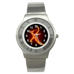 Fire Letterz X Stainless Steel Watch