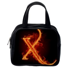 Fire Letterz X Classic Handbags (one Side) by Alisyart