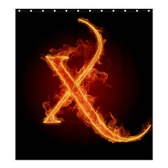 Fire Letterz X Shower Curtain 66  X 72  (large)  by Alisyart