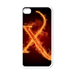 Fire Letterz X Apple Iphone 4 Case (white)