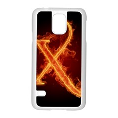 Fire Letterz X Samsung Galaxy S5 Case (white)