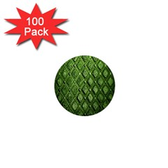 Circle Square Green Stone 1  Mini Buttons (100 Pack)