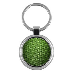 Circle Square Green Stone Key Chains (round)  by Alisyart