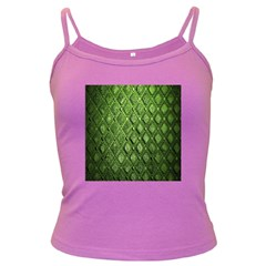 Circle Square Green Stone Dark Spaghetti Tank