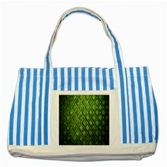 Circle Square Green Stone Striped Blue Tote Bag by Alisyart