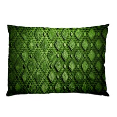 Circle Square Green Stone Pillow Case by Alisyart