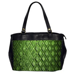 Circle Square Green Stone Office Handbags (2 Sides)