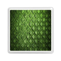 Circle Square Green Stone Memory Card Reader (square)
