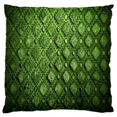 Circle Square Green Stone Large Cushion Case (two Sides) by Alisyart